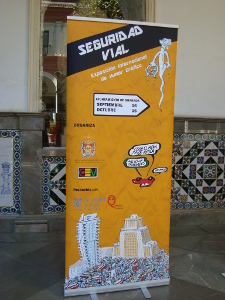 Enter to Exhibition Road Safety and Humor Granada