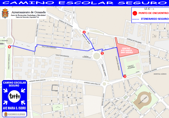 Safe School Routes map Granada
