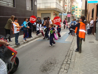 Traffic School Regulators at Santa Marta´s  School