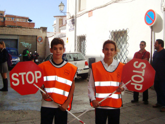 Traffic School Regulators at Nuestra Señora del Rosario´s School