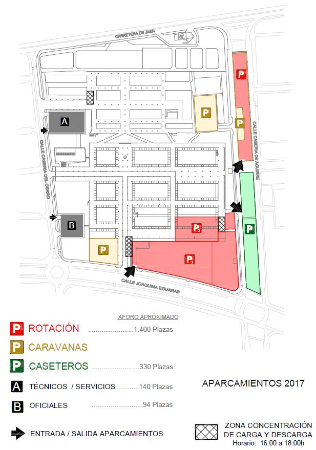 Ferial parking places 2017