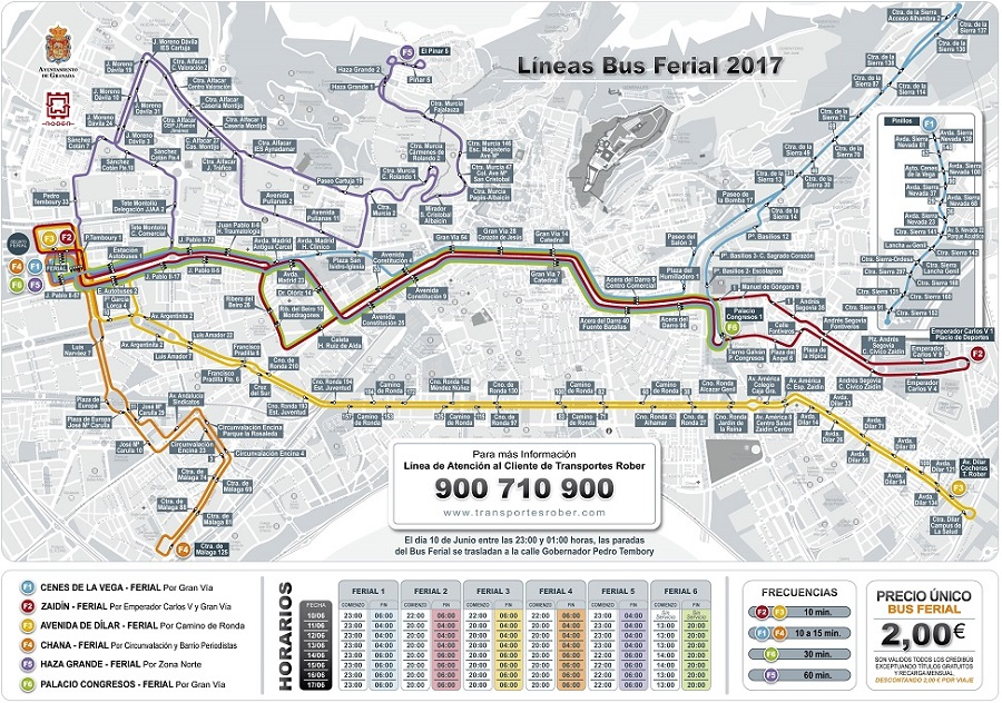 Bus lines map to ferial 2017