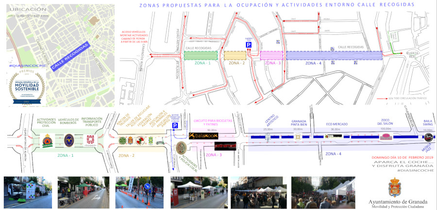 activities map sunday car free day february 2019 granada
